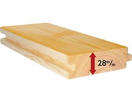 ミニログハウスの特長 その3 感激の分厚い床板約3cmのムク材