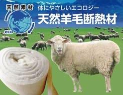 ビックボックスでは化学物質を吸着する天然羊毛断熱材をご提案いたします。