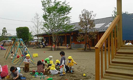 ログハウス大賞の誉、森の子保育園(1棟目園舎)