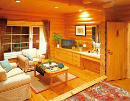 開放感のある平屋のログハウスが人気の理由