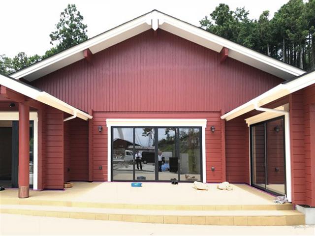 三島スカイウォークのログ店舗オープン