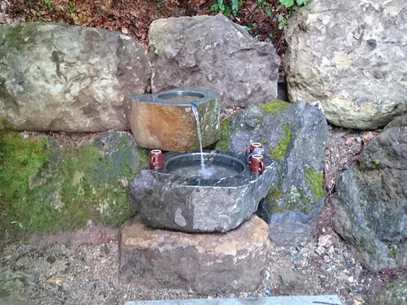 ログハウス,天然炭酸水