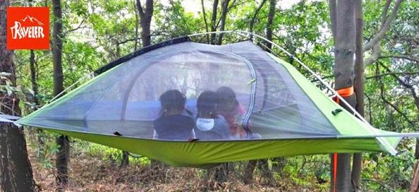 浮遊テント,蚊帳付きハンモック