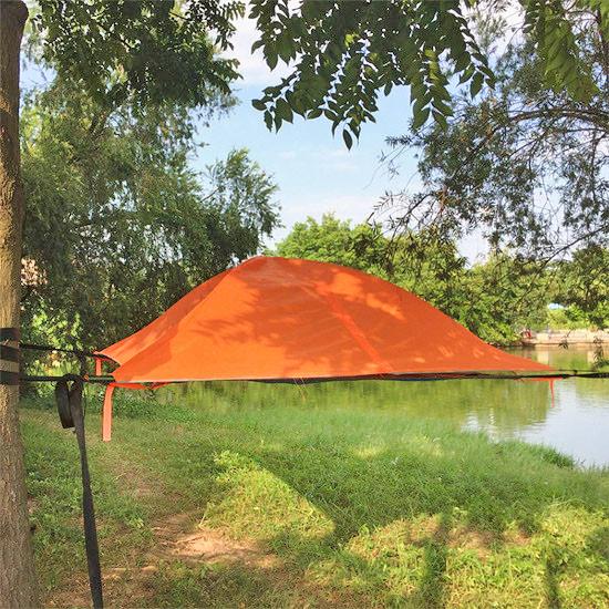 浮遊型テント,ログハウス,キャンプ,グランピング