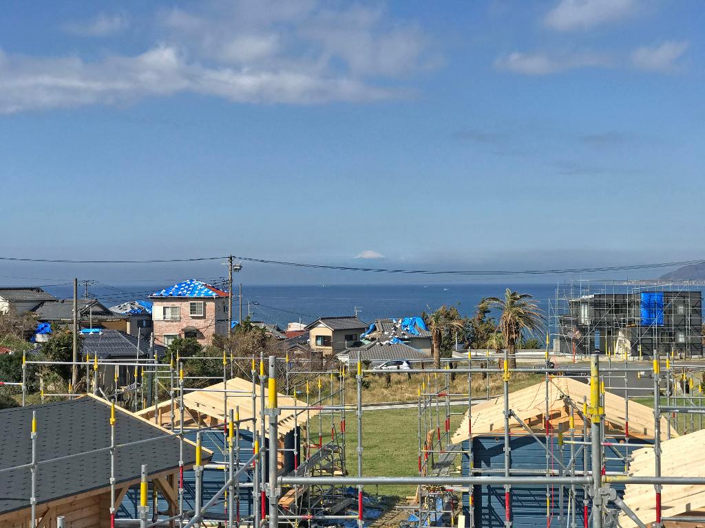千葉県館山から見る富士山