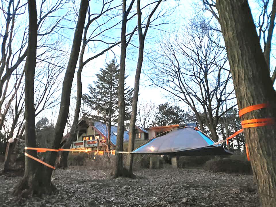 ログハウス,浮遊テント