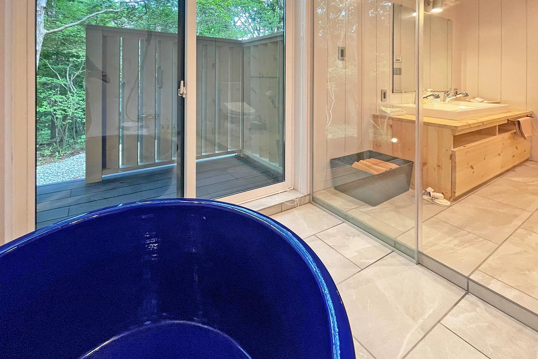 アートログハウス別荘内覧浴室2